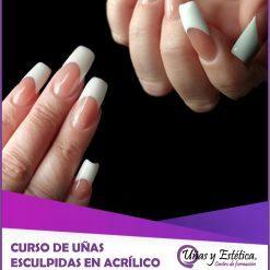 imagen portada curso uñas de acrílico